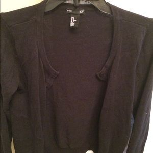 H&M Black cardigan sweater
